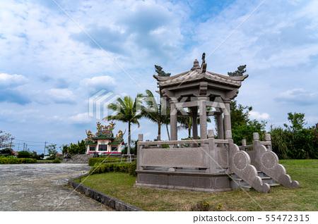 Hexagonal ax next to Okinawa tomb on Okinawa Ishigaki Island 55472315