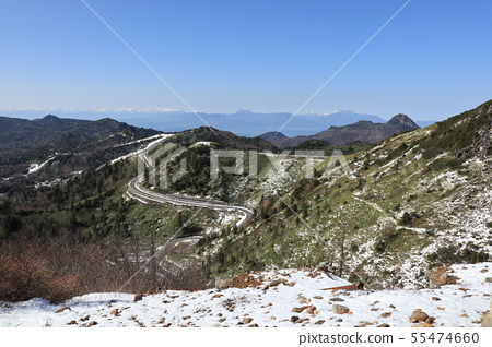 Kusatsu Shirane mountain in the late fall Gunma prefecture 55474660