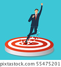 businessman breaking target archery to Successful 55475201