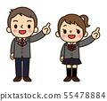男女在學校的衣服 55478884