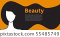 Brunette girl with long hair 55485749