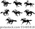 racing horses and jockeys sketch 55485818