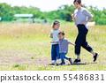 公園的父母和孩子 55486831