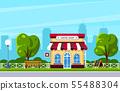 Street cafe, coffee shop 55488304