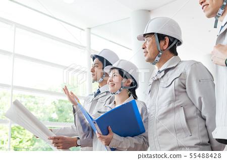 女商人,頭盔,總承包商,建築業 55488428