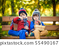 Child picking apples on a farm in autumn. Little 55490167