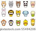 다양한 동물 인형 55494206
