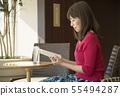 카페 독서 여성 55494287