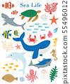 海洋生物海生物例證集合 55496012