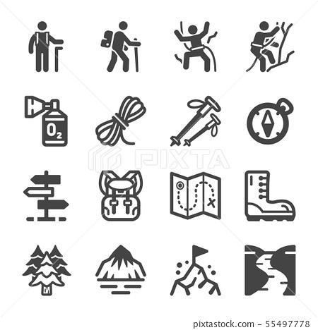 hike icon set 55497778