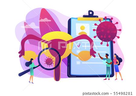Human papillomavirus HPV concept vector illustration 55498281