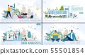 Online Business and City Life Vector Websites Set 55501854