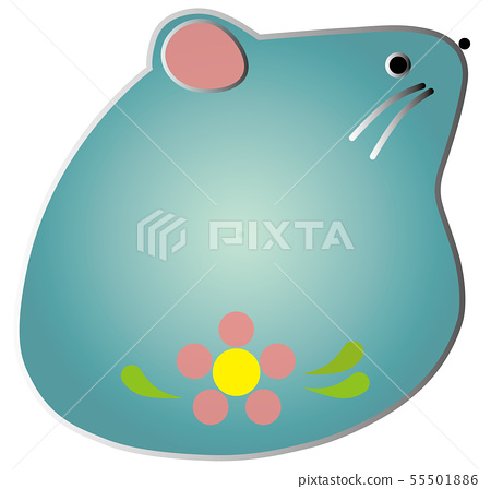 Illustration material zodiac mouse blue 55501886