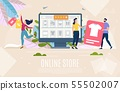 Online Shop Flat Vector Landing Page Template 55502007