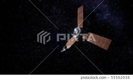 Juno sattelite orbiting Jupiter 55502038
