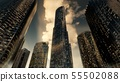 Skyscrapers or Modern Buildings in the City 55502088