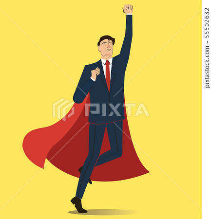 Successful businessman and red cape 55502632