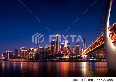 Modern skyline of city of Chongqing in China  55502660