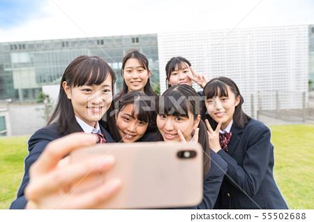高中女生,自拍照 55502688