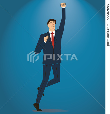 businessman celebrating a successful achievement 55502695