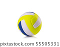 New volleyball ball Studio shot and isolated on white 55505331