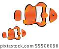 Anemone fish parent-child illustration Anemone Fish 55506096