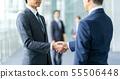 握手的商人談判企業圖像 55506448