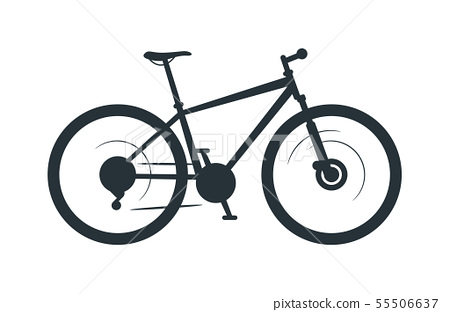 Mountain bike vector silhouette illustration 55506637