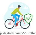 Guy riding bike vector illustration 55506967