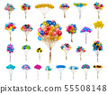 collage color balloons on a white 55508148