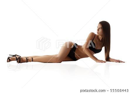 Beautiful perfect woman with beautiful long legs 55508443