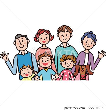 Three generation family 55510693