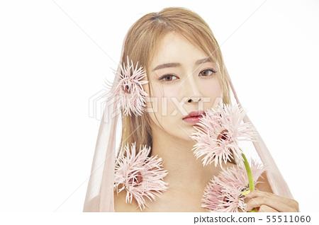 꽃,뷰티,젊은여자 55511060