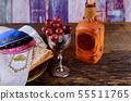 Close up of concept jewish holiday passover matzot 55511765