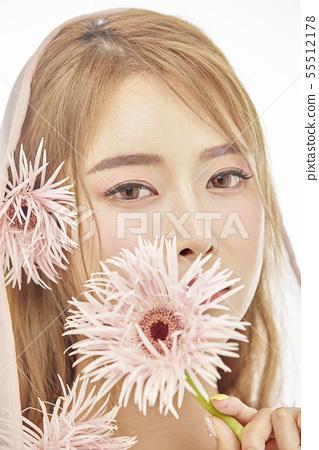 꽃,뷰티,젊은여자 55512178