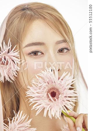 꽃,뷰티,젊은여자 55512180
