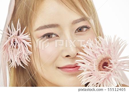꽃,뷰티,젊은여자 55512405