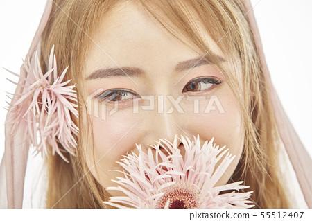 꽃,뷰티,젊은여자 55512407