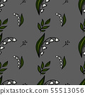 Seamless floral pattern. Pattern for fabric 55513056