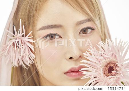 꽃,뷰티,젊은여자 55514754
