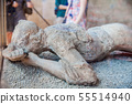 Plaster cast body of a female in Pompeii 55514940