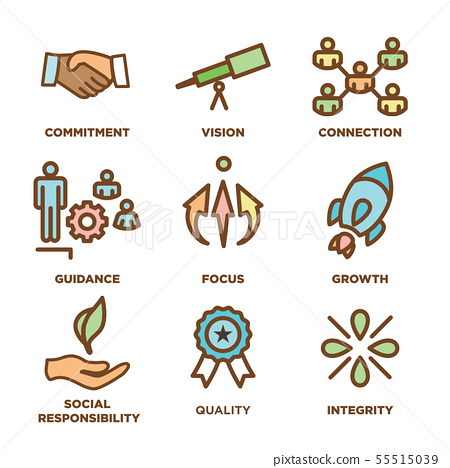 Core Values Outline / Line Icon Conveying 55515039