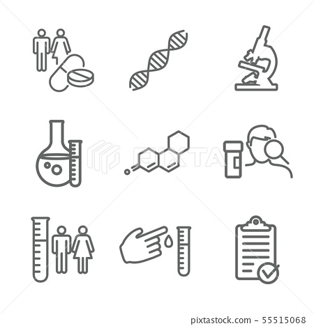 Medical Healthcare Icons with People Charting 55515068