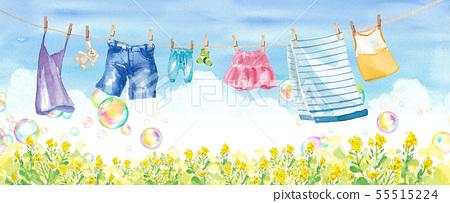乾衣服和肥皂泡(裙子,毛巾,襪子,褲子,牛仔布,兒童服裝,camiso) 55515224