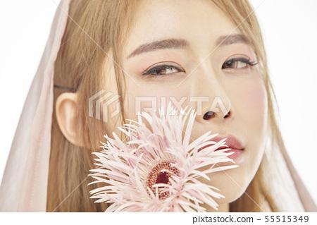 꽃,뷰티,젊은여자 55515349