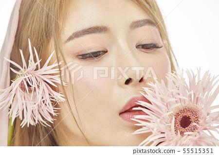 꽃,뷰티,젊은여자 55515351