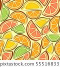 Vector citrus seamless pattern  55516833