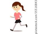 女性慢跑 55516843