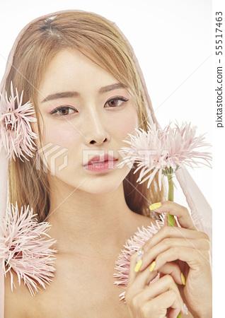 꽃,뷰티,젊은여자 55517463