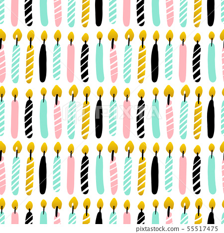 Candles Seamless Pattern 55517475